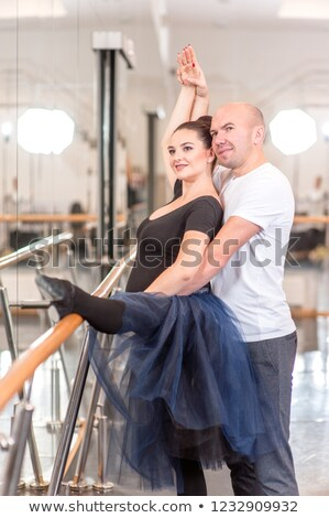 Ballet dancers embracing at barre Stock photo © IS2