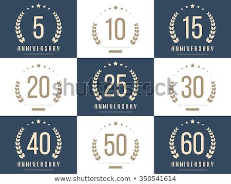 шестьдесят год летию Знак искусства объект Сток-фото © meisuseno
