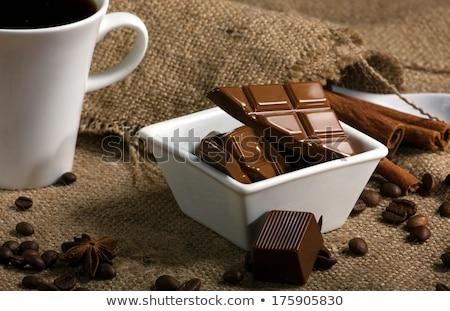 Koffieboon Spice voedsel hout chocolade Stockfoto © M-studio