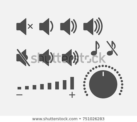 Sonores signe vecteur web élément circulaire Photo stock © rizwanali3d
