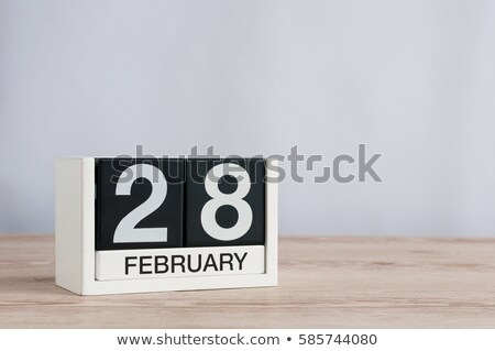 cubes calendar 28th february stock photo © oakozhan