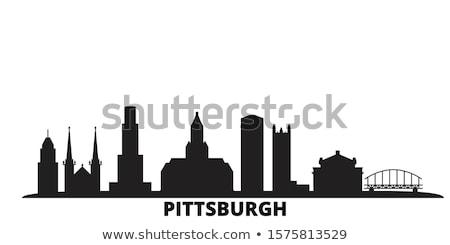 pittsburgh pa city silhouette stock photo © blamb