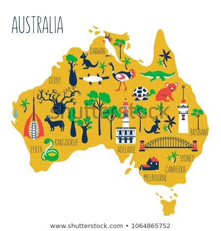 Cartoon Perth Stock photo © blamb