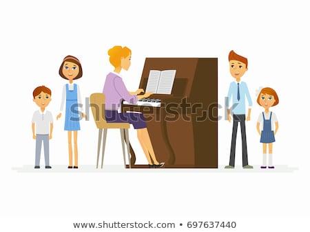 ピアノ · 教師 · 音楽 · レッスン · 学生 · 学校 - ストックフォト © monkey_business