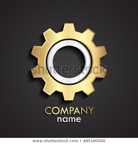 Brand Design - Mechanism of Shiny Metal Cogwheels. 3D. Stock photo © tashatuvango