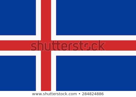Islândia bandeira branco projeto mundo atravessar Foto stock © butenkow