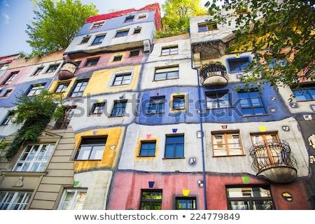 Colorful Hundertwasserhaus architecture of Vienna view Stock photo © xbrchx