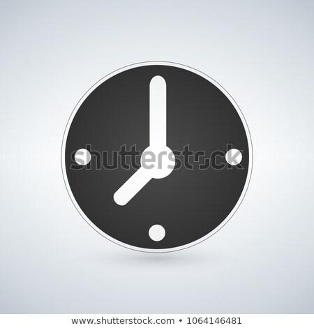 Czarny zegar ikona mechaniczny oglądać Zdjęcia stock © kyryloff