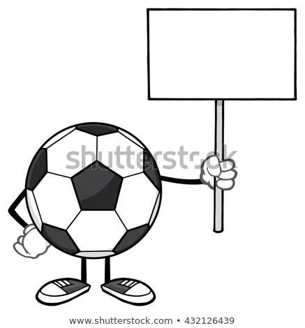 Soccer ball mascotte carattere isolato Foto d'archivio © hittoon