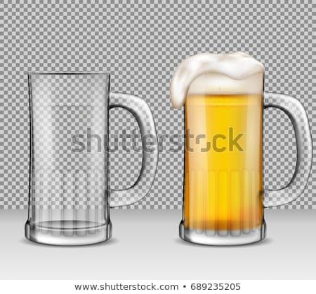 Taze alman birası bira kupa şeffaf parti Stok fotoğraf © articular