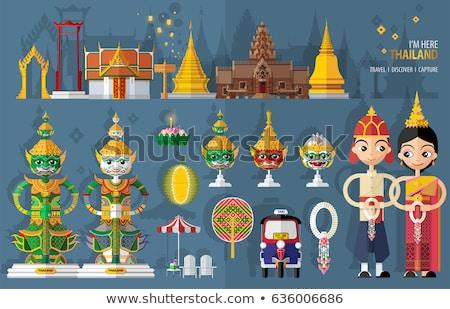 demon · opiekun · posąg · świątyni · dekoracji · Bangkok - zdjęcia stock © koratmember