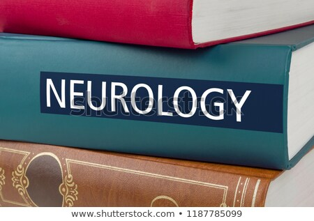 a book with the title neurology written on the spine stock photo © zerbor