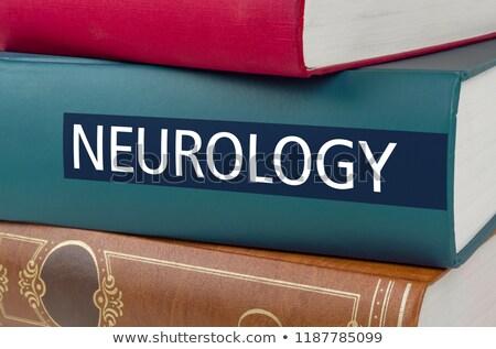 Libro título neurología escrito espina libros Foto stock © Zerbor