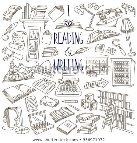 Typewriter hand drawn outline doodle icon. Stock photo © RAStudio