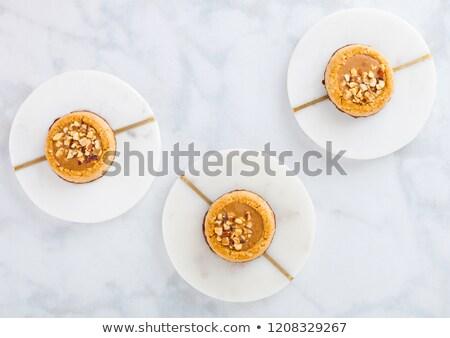 Házi készítésű keksz sütik mandula diók mogyoróvaj Stock fotó © DenisMArt