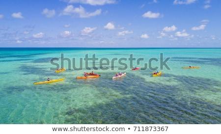 kajak · tengerparti · homok · Karib · tenger · türkiz · víz - stock fotó © lunamarina