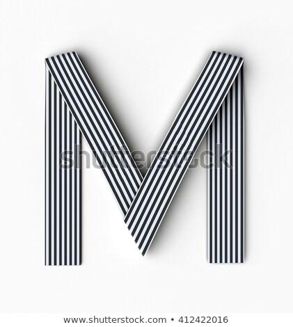 черно белые буква М 3D 3d визуализации иллюстрация Сток-фото © djmilic
