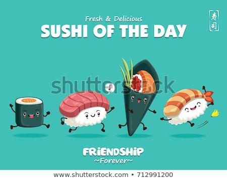 vettore · alimentare · cibo · giapponese · japanese · piatti · sushi - foto d'archivio © tele52