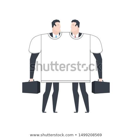 Tshirt twee deal business Stockfoto © MaryValery