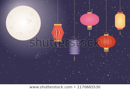 Happy Mid Autumn Festival Cultural Event Emblems Stock photo © robuart