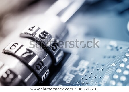 комбинация замок цифровой металл Purple Сток-фото © vinnstock