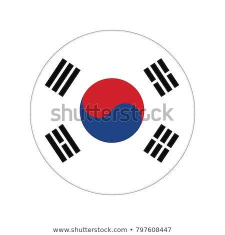 Güney Kore bayrak etiket örnek dizayn arka plan Stok fotoğraf © colematt