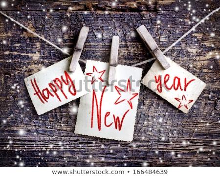 christmas · gelukkig · nieuwjaar · wenskaart · tekst · mode · stijl - stockfoto © FoxysGraphic
