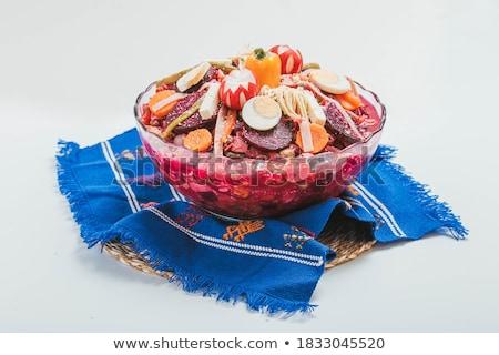Warzyw bulion kiełbasa obiedzie jesienią ziemniaczanej Zdjęcia stock © M-studio