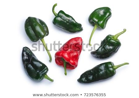 Whole Poblano (Ancho) pepper, paths Stock photo © maxsol7