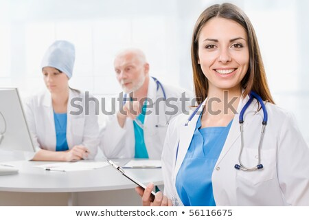 portrait of two smiling medical workers stock photo © minervastock