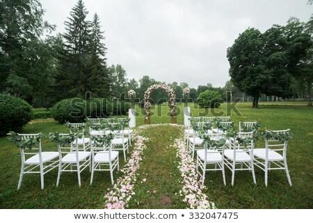 Vaso fiori cerimonia di nozze parco bella Foto d'archivio © ruslanshramko