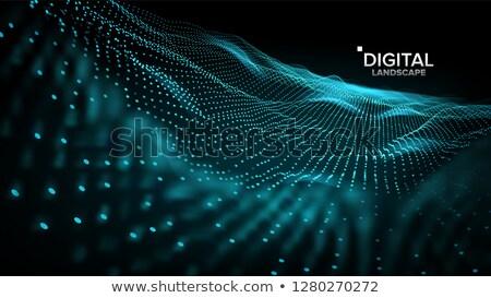 пейзаж вектора футуристический графических рельеф структуры Сток-фото © pikepicture