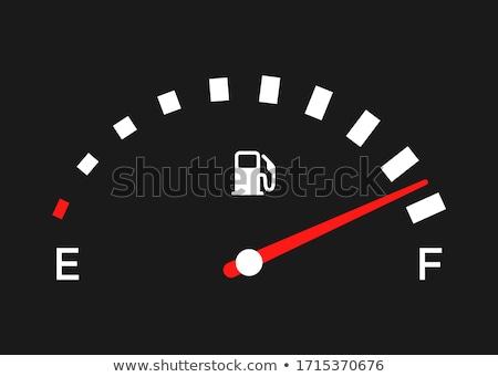 Gaz carburant automobile tableau de bord voiture Photo stock © jeff_hobrath