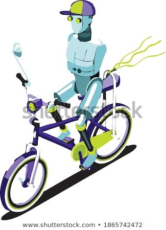 kiborg · üzletember · iroda · robot · mesterséges · intelligencia · vektor - stock fotó © pikepicture