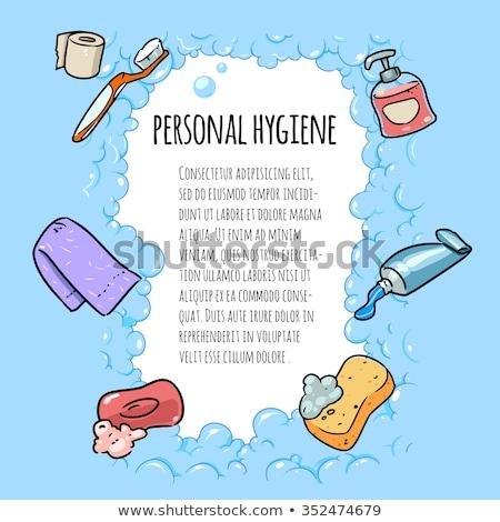 Personnelles tous les jours hygiène design salle de bain Photo stock © netkov1