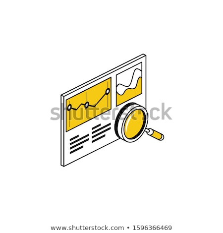 Geometry color outline isometric icons Stock photo © netkov1