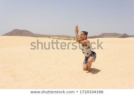 girl on horse posing in the dunes Stock photo © compuinfoto