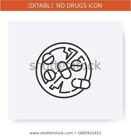 Drug trafficking concept vector illustration. Stock photo © RAStudio