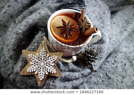 vidrio · tetera · té · limón · flor · medicina - foto stock © zoryanchik