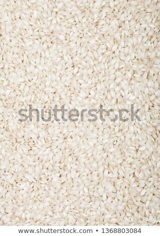 fekete · tál · nyers · organikus · rizottó · rizs - stock fotó © DenisMArt