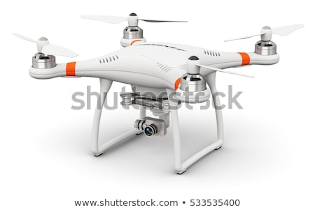 Quadrocopter drone with 4K camera on sky Stock photo © adamr