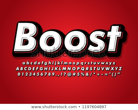 Modern bold font and alphabet, Font with shadow. Stock photo © Andrei_