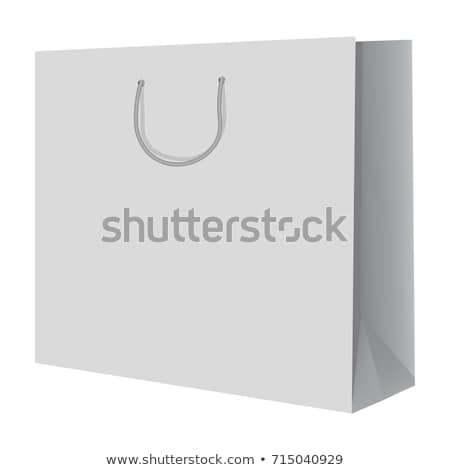 Female Shopaholic with Paper Bags in Store Vector Stock photo © robuart
