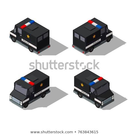 policía · van · icono · botón · diseno - foto stock © tashatuvango