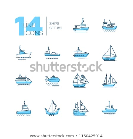 Water Transport Ferry and Yacht Types Set Vector Stock photo © robuart