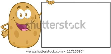 Aardappel geïsoleerd witte Stockfoto © hittoon