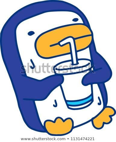 Sıcak yaz penguen terleme örnek terli Stok fotoğraf © Blue_daemon