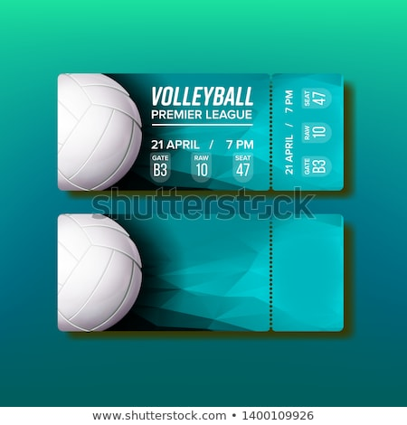 Ticket Tear-off Coupon On Volleyball Match Vector Stock photo © pikepicture