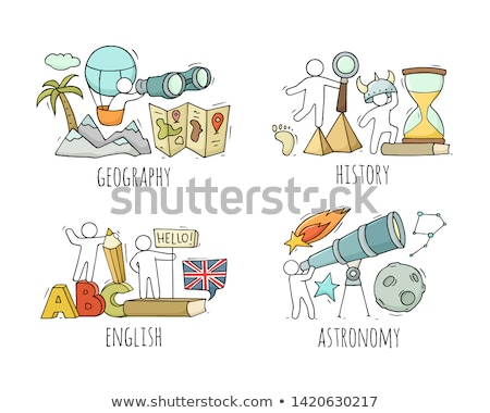 Astronomy Subject at School Discipline and Kids Stock photo © robuart