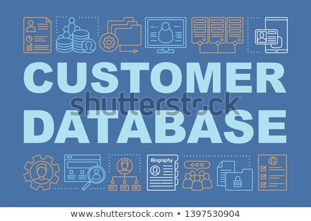 Database word illustration Stock photo © Spectral